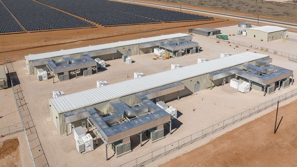 Approximately 40 megawatt alternating current battery storage is part of Ørsted's Permian Energy Center, a hybrid solar photovoltaic and battery storage facility just opened in Andrews County.
