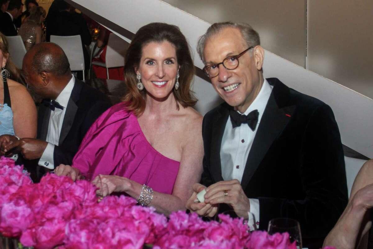 Phoebe Tudor and Gary Tinterow at the MFAH Grand Gala Ball at the Kinder Building in Houston on May 22, 2021.