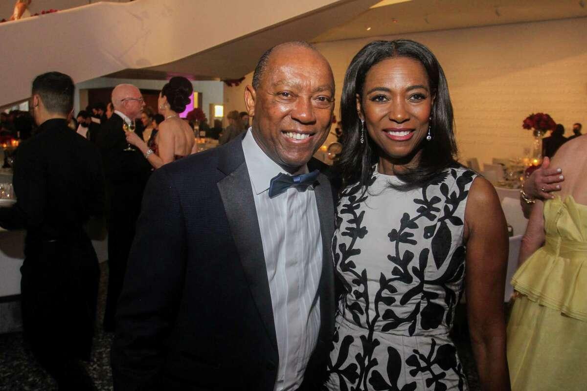 Mayor Sylvester Turner and Dr. Kathy Flanagan at the MFAH Grand Gala Ball at the Kinder Building in Houston on May 22, 2021.