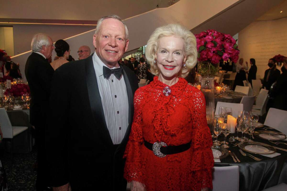 Richard Flowers and Lynn Wyatt at the MFAH Grand Gala Ball at the Kinder Building in Houston on May 22, 2021.