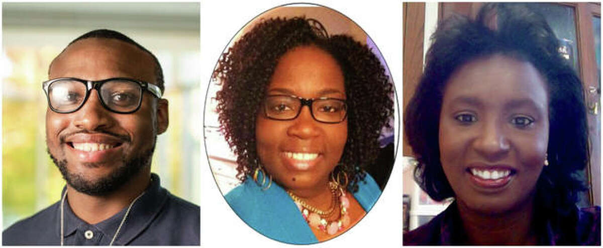 Southern Illinois University Edwardsville's student success coaches include, from left, Nathan Brown, Monique Jameison and Denise Petty.