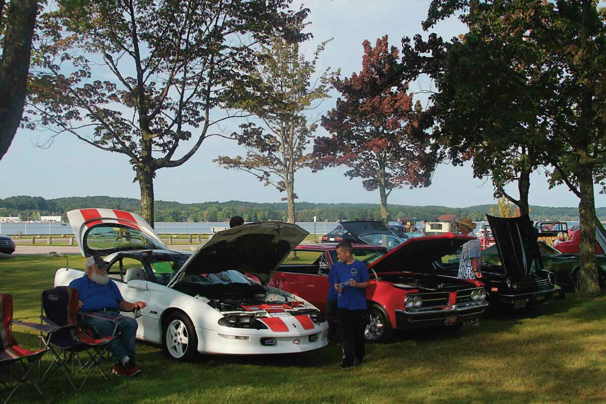 File - More than 75 cars took part in the Onekama Days Car Show in 2020.