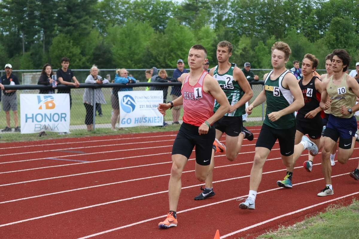 Benzie Central's boys compete at track and field regionals on May 21.