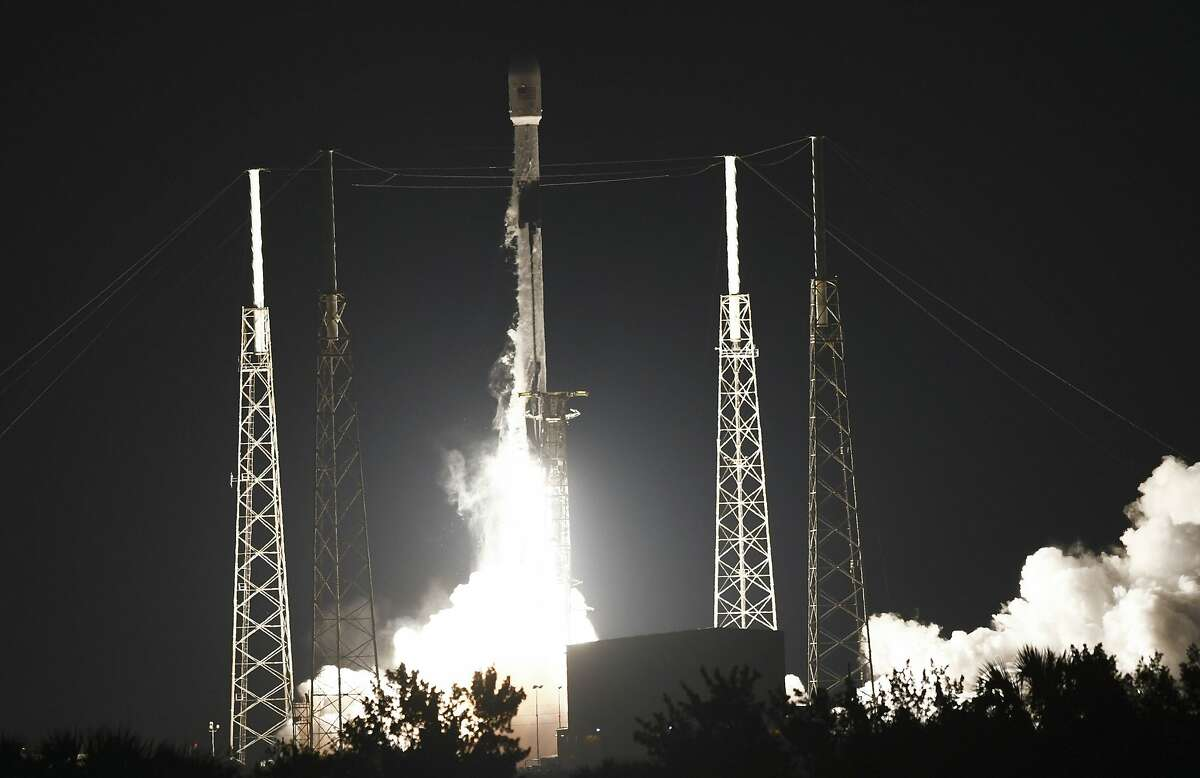 A SpaceX Falcon 9 rocket lifts off from Complex 40 at Cape Canaveral Space Force Station early this month.