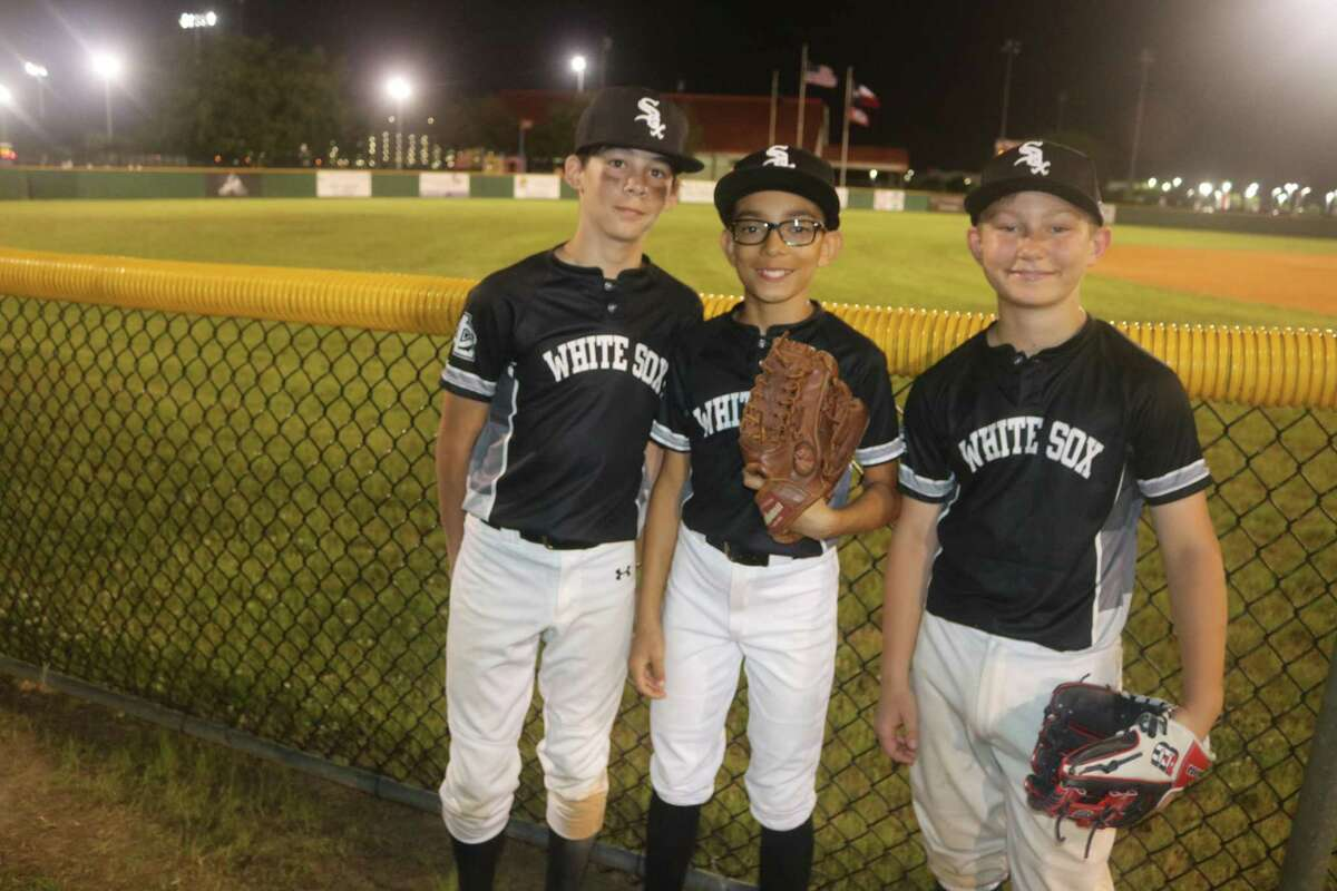 This White Sox trio of (L-R) Dayton Doutrich, Kaedon Nunez and Jake Roberts had their first game of the Majors City Championship tournament postponed again by Sunday's wet weather. The White Sox have the No. 3 seed for the tournament whenever it begins.