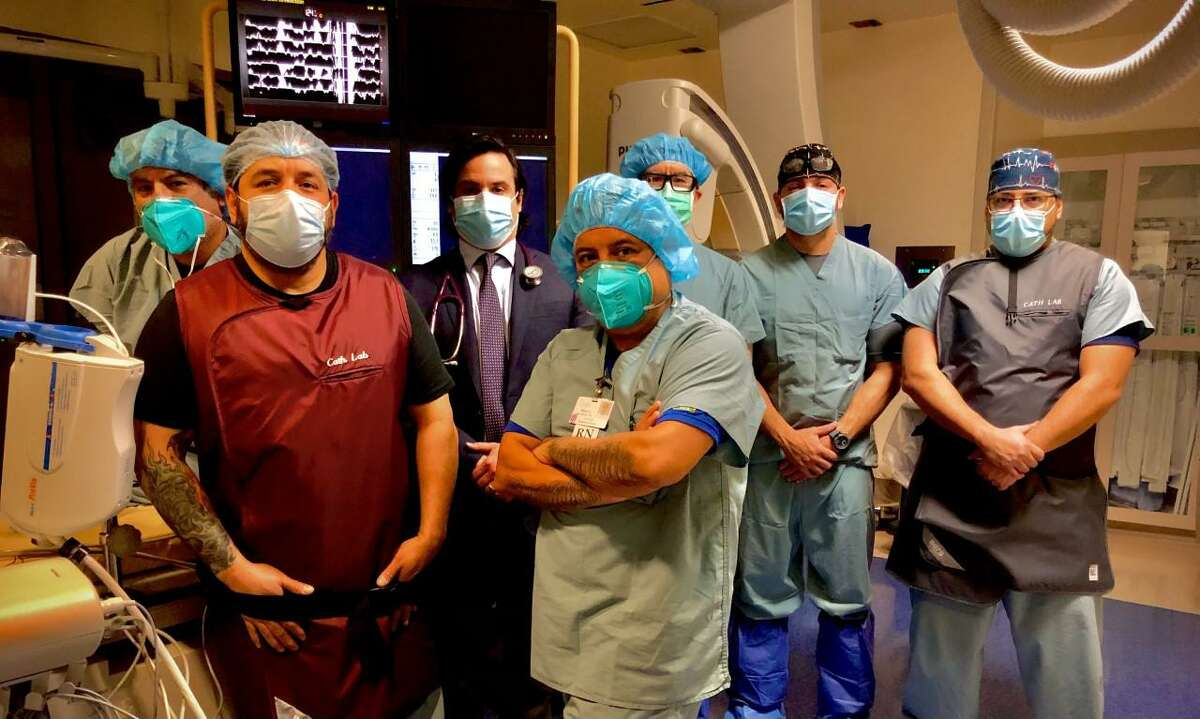 Dr. Ricardo J.G. Cigarroa II is pictured with the Cath Lab team at Laredo Medical Center.