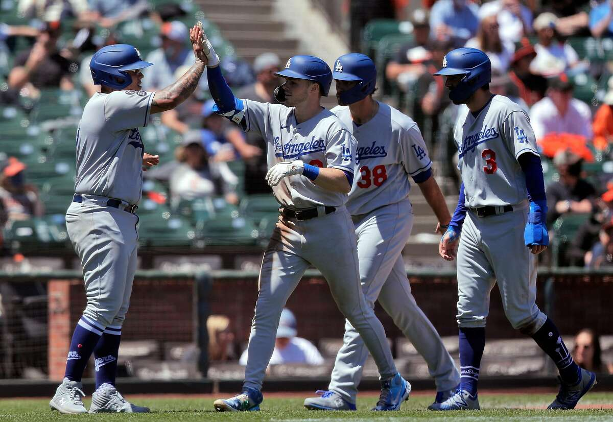 """The Giants trailed 10-0 after Gavin Lux's third-inning homer. """"We got beat every which way in this series,"""" Gabe Kapler said."""