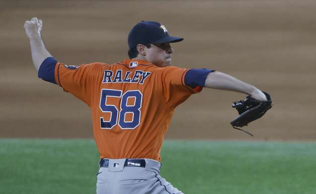 ARLINGTON, TX - MAY 23: Brooks Raley #58 of the Houston Astros pitches against the Texas Rangers during the sixth inning at Globe Life Field on May 23, 2021 in Arlington, Texas. (Photo by Ron Jenkins/Getty Images) Photo: Ron Jenkins/Getty Images / 2021 Getty Images