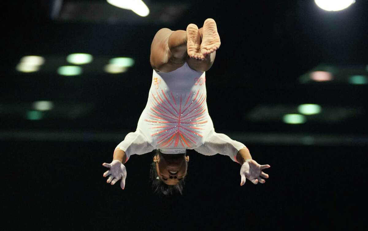En route to the all-around title at the U.S. Classic meet in Indianapolis on Saturday, Simone Biles became the first female gymnast to unleash a Yurchenko double pike vault.