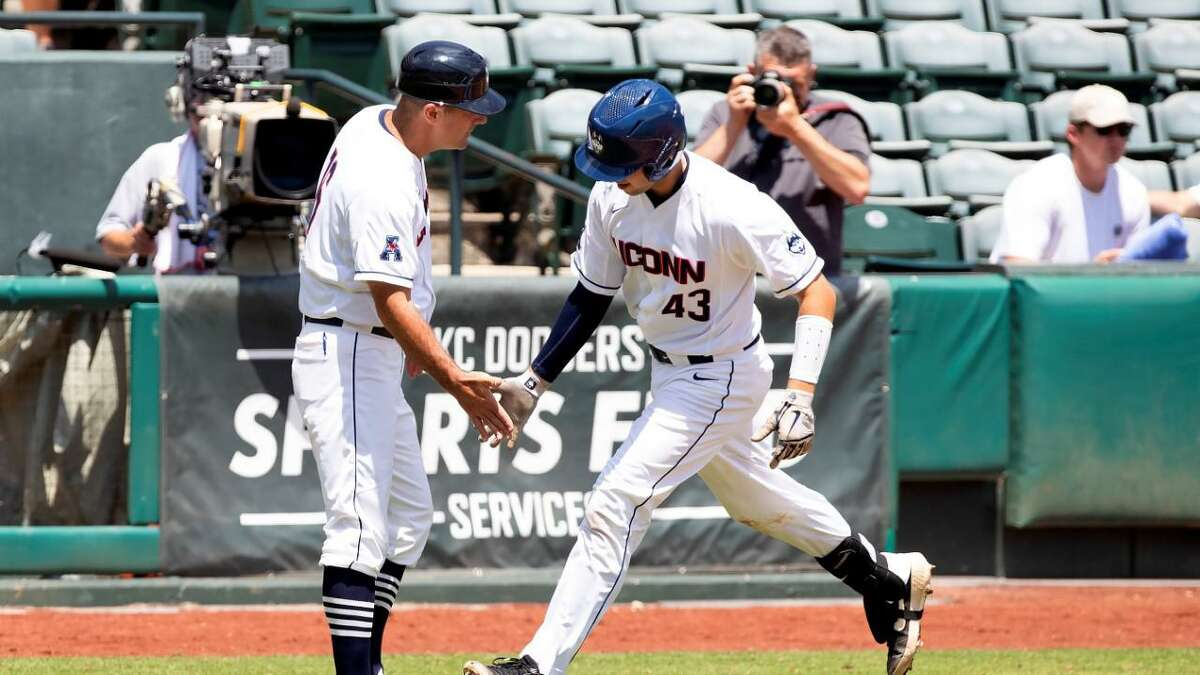 Pat Winkel, the former Amity High star now at UConn, is tied for the Huskies' lead in home runs with 11.