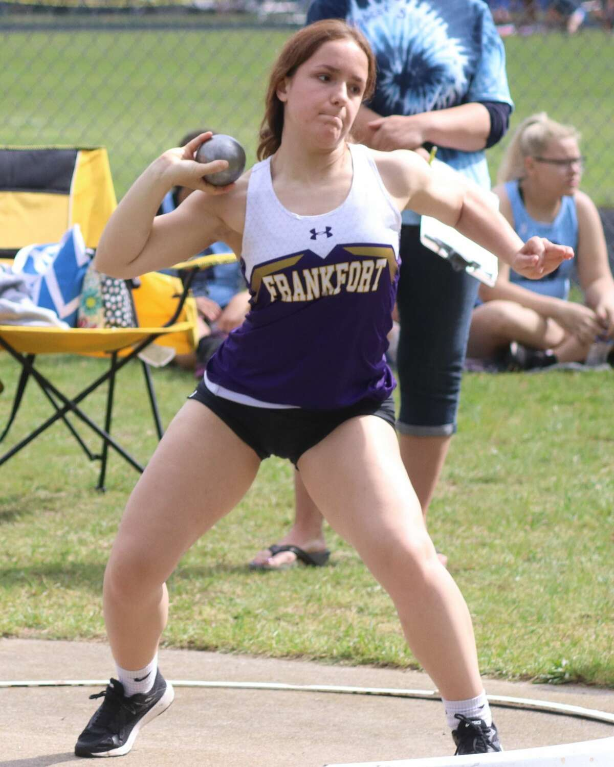 Frankfort's girls track and field team competes at regionals on May 22 at Brethren.