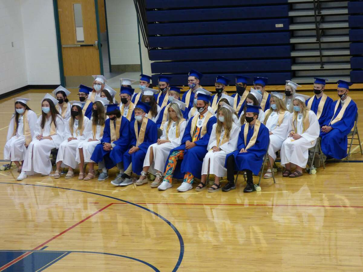 The Onekama High School Class of 2021's commencemwent ceremony took place in the school gymnasium Sunday afternoon.
