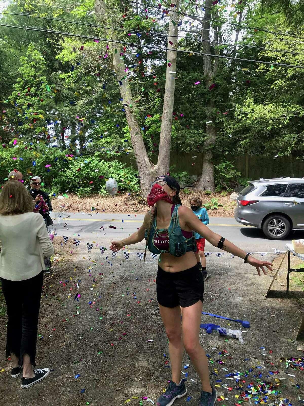 Ashley Ortelli, of Ridgefield, celebrated her 35th birthday by running a 35-mile ultramarathon on May 16.