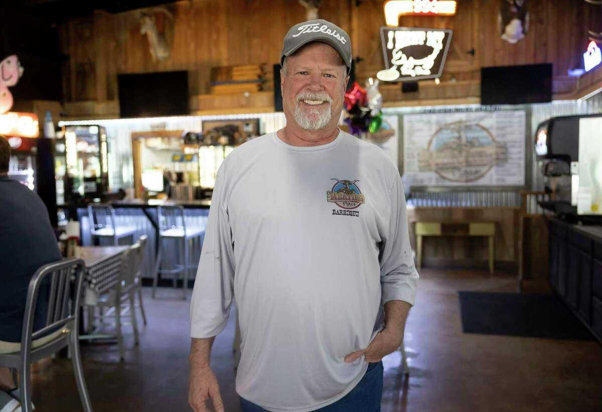 Buddy Adams, owner of The Meating Place, poses for a portrait, Tuesday, May 18, 2021, in Magnolia. Adams was able to give out an estimated 800 BBQ sandwiches during winter storm uri.