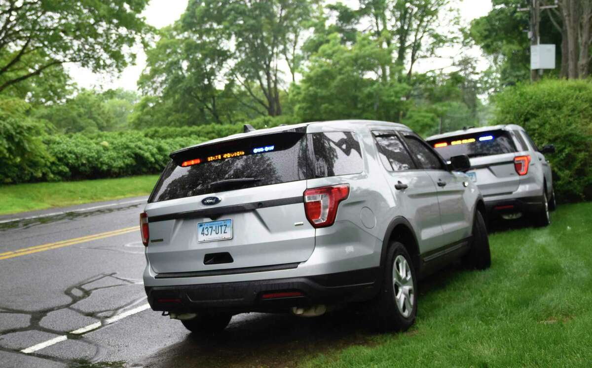 One person was killed and two others seriously injured following a two-vehicle crash in the area of 356 Southbury Road in Roxbury, Conn., the evening of Friday, May 21, 2021.