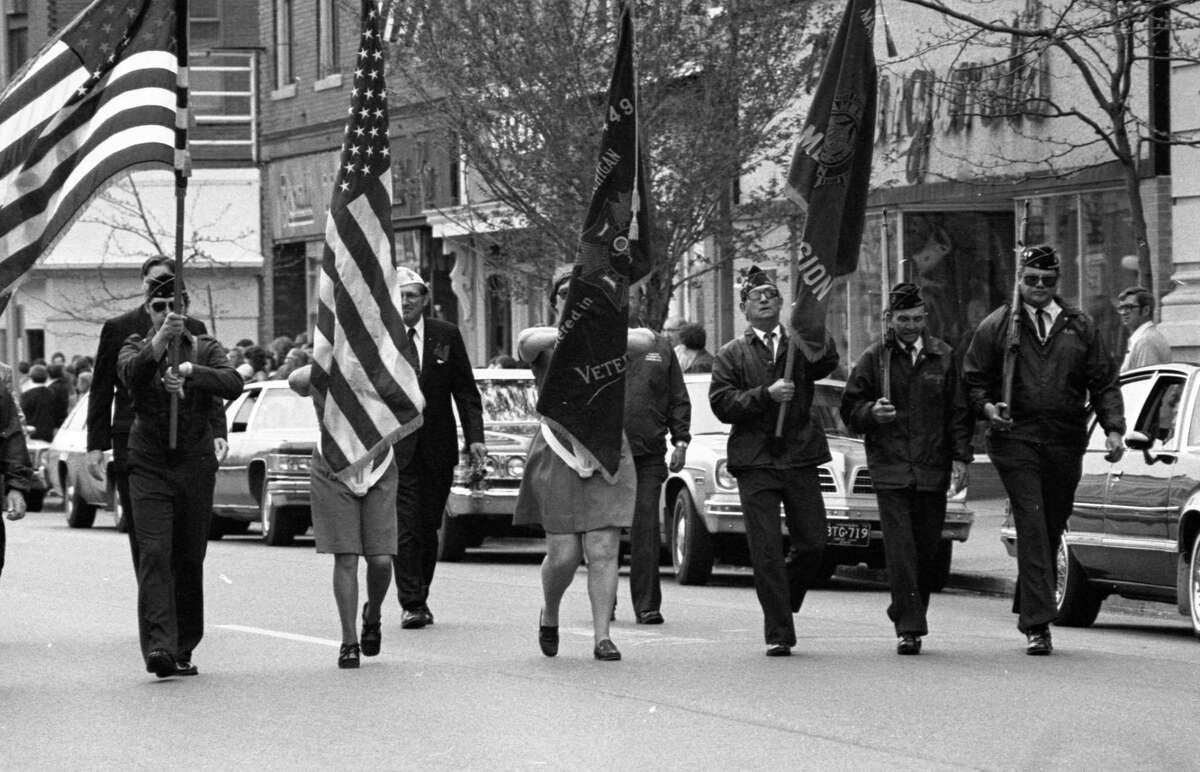 The annual Memorial Day Parade was held40 years agoon May 25. The photo was published in the News Advocate in late May 1981. (Manistee County Historical Museum photo)