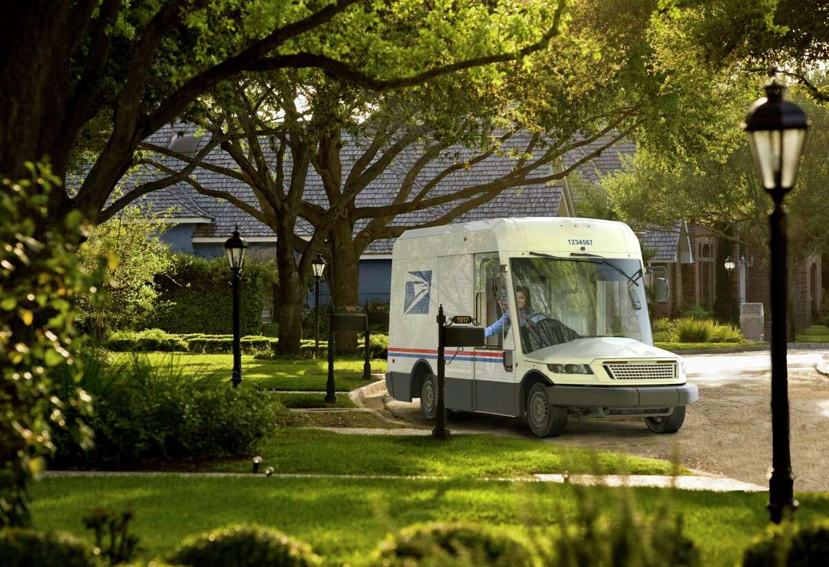 """A renderings of the U.S. Postal Service's """"Next Generation Delivery Vehicle,"""" or NGDV."""