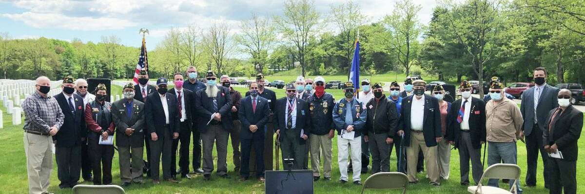 The Connecticut Department of Veterans Affairs hosted a formal ribbon cutting ceremony May 13, marking the completion of two major improvement projects to the grounds of the State Veterans Cemetery in Middletown.