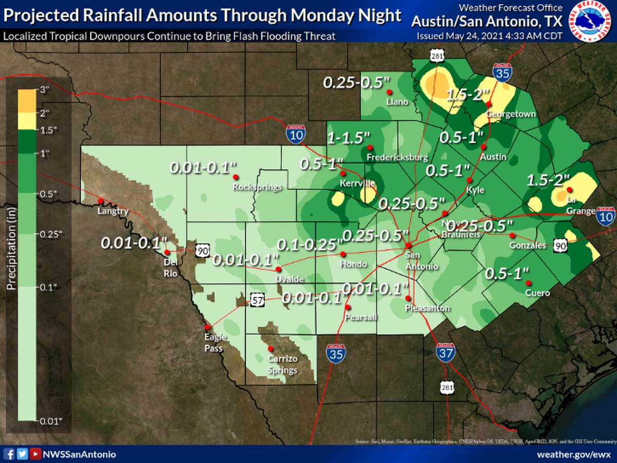 Tropical downpours will bring flash flooding threat to area counties, NWS says.