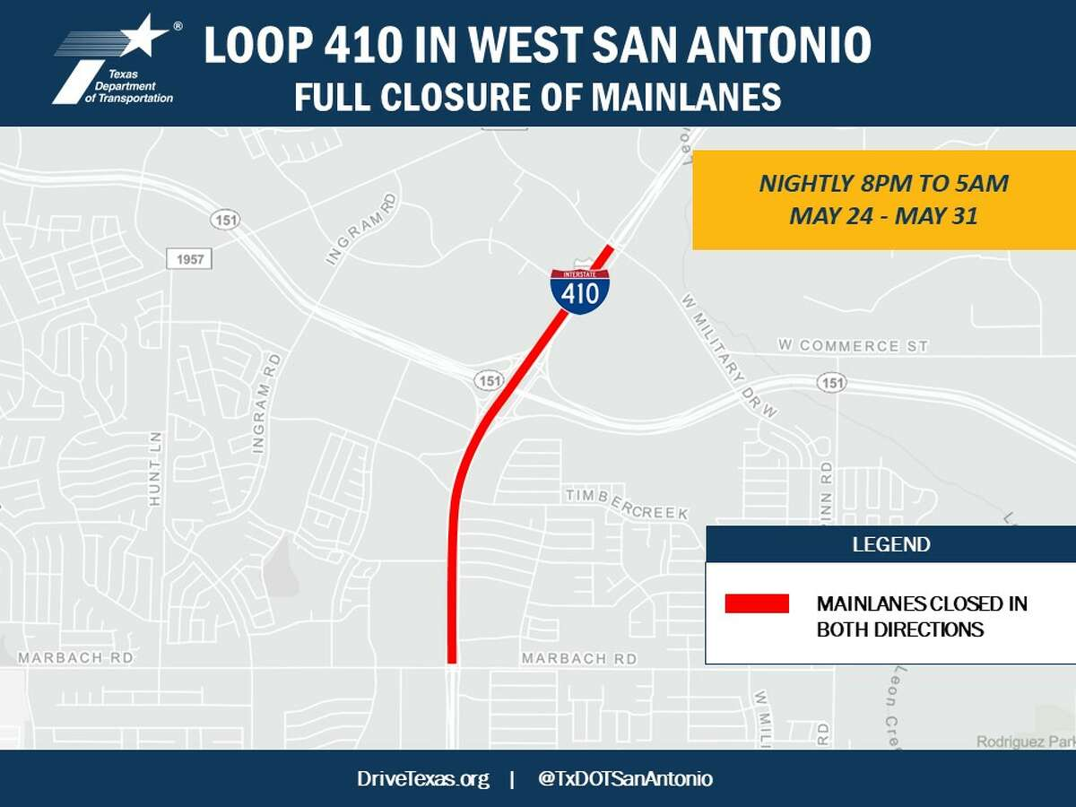 Parts of 410 will be closed nightly this week.
