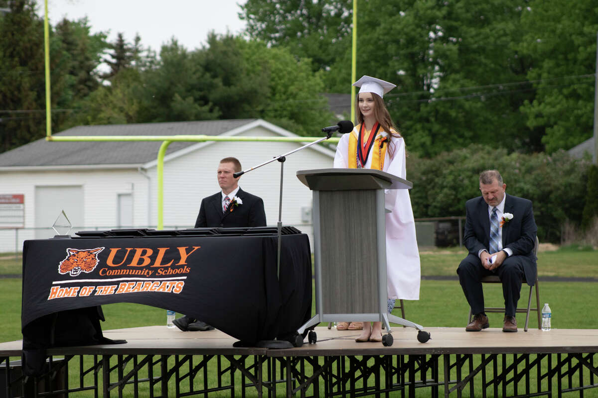 Ubly Community Schools board, faculty, and families gathered on the football field May 23 to celebrate the graduating class of 2021.