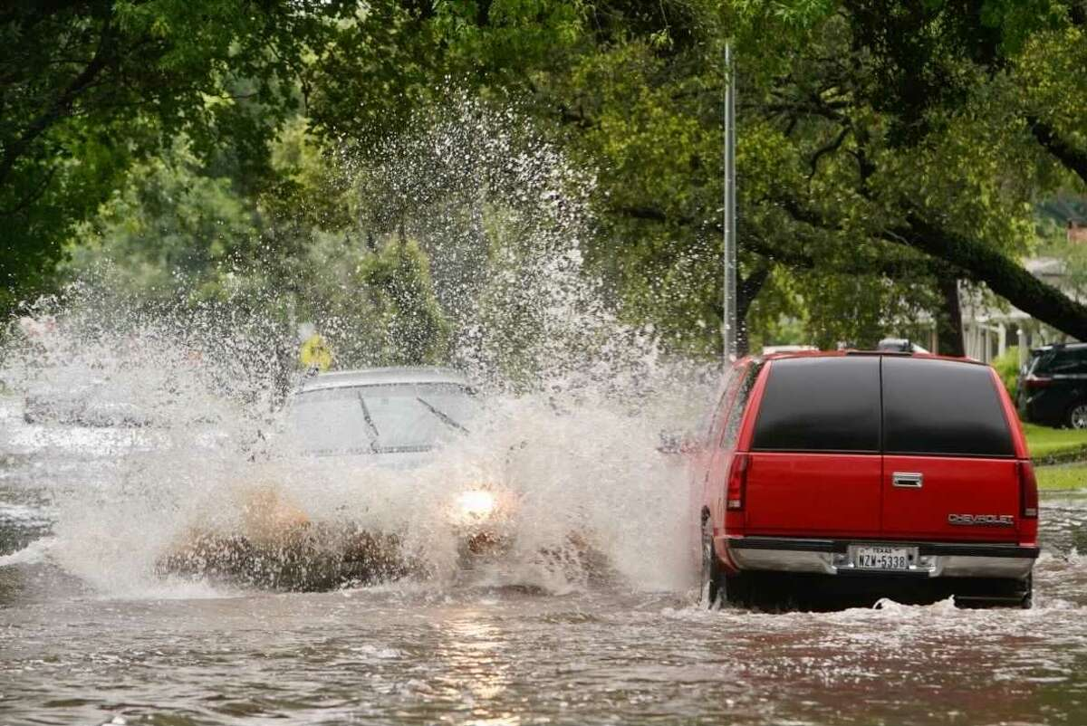 Flooding at Willowbend near Hillcroft on Monday, May 24, 2021, in Houston.