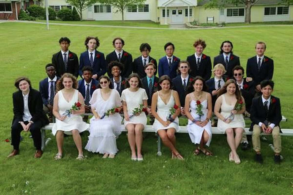 Twenty-seven Marvelwood School students graduated Saturday, May 22, 2021 during an outdoors ceremony in Kent, Conn.
