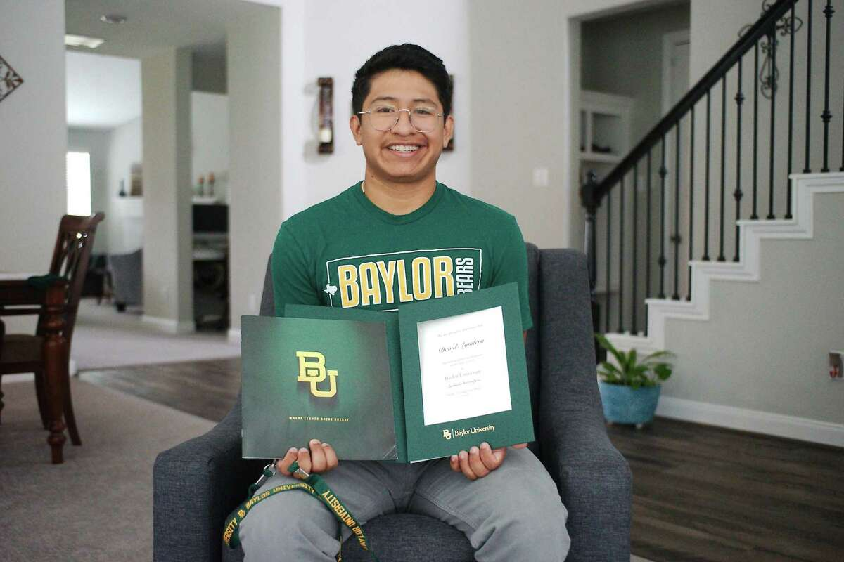Lutheran South High School graduating senior David Aguilera is headed to Baylor University this fall. A football injury in high school sparked his interest in radiology as a career.