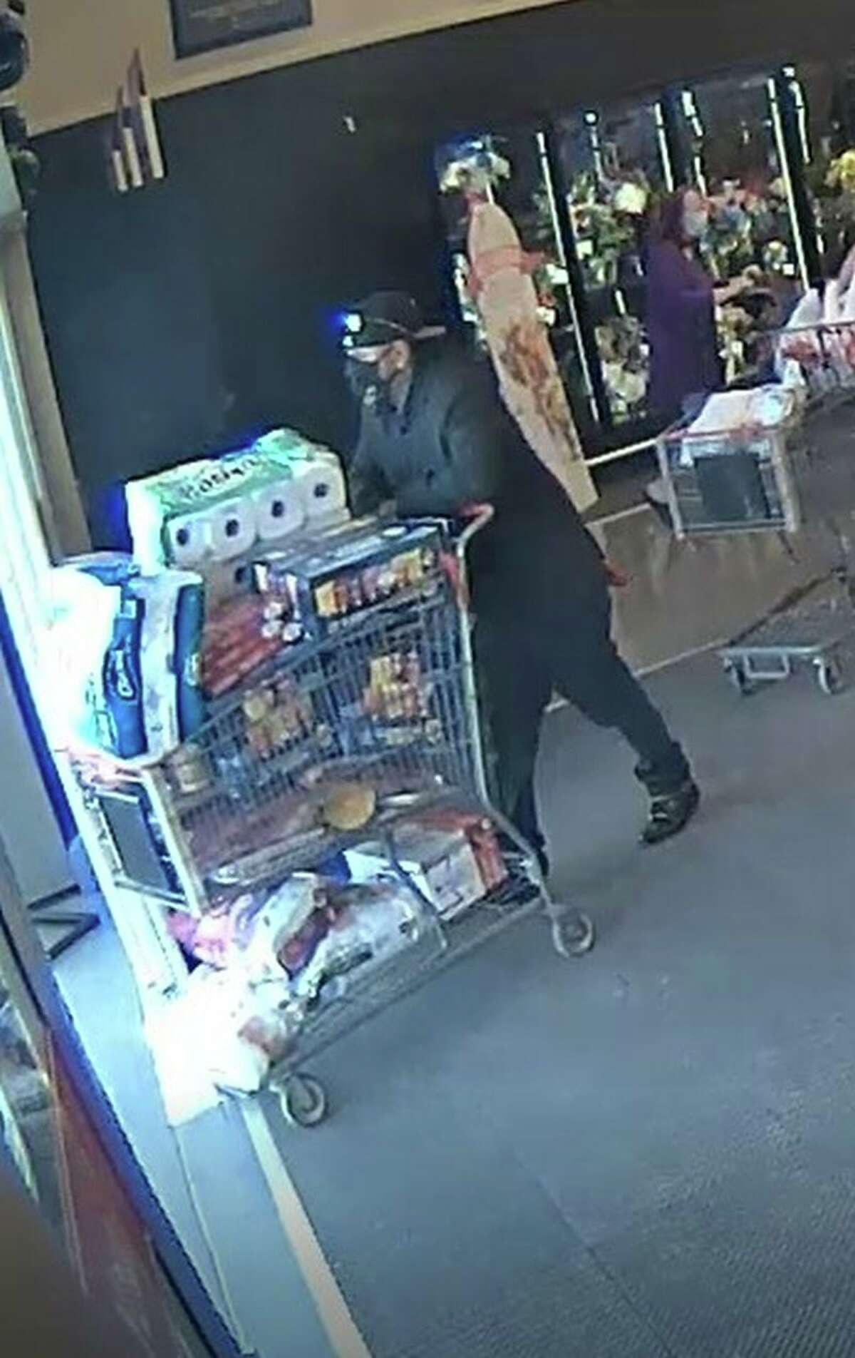 The Midland Police Department is seeking the public's help in identifying a man who entered H-E-B off Loop 250 on May 11 and stole approximately $911 worth of groceries, according to the MPD Facebook page.
