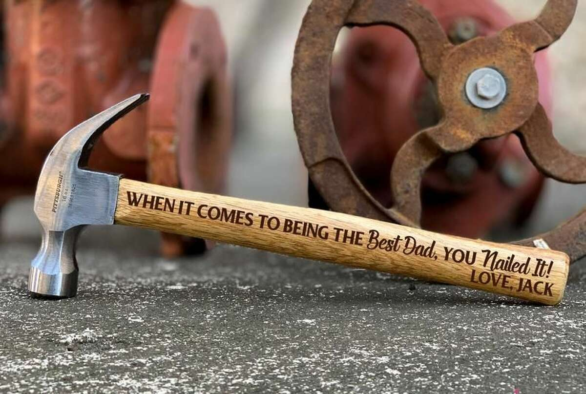 Personalized Hammer First Fathers Day, Start at $56.50 at Etsy Shop YipeeDaisy