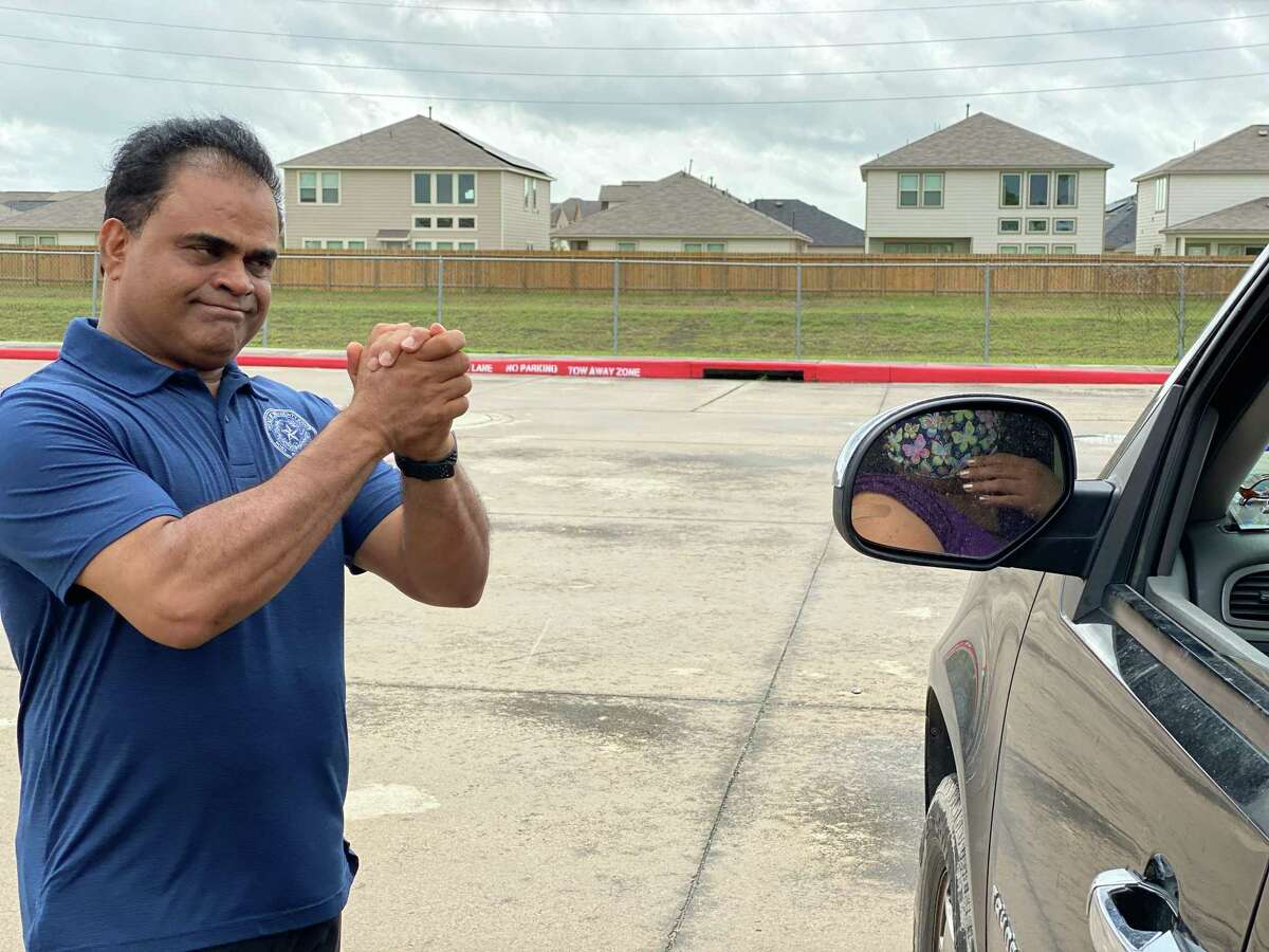 Fort Bend County Judge KP George was on hand Saturday, May 22, in Rosharon to help distribute needed food and supplies for residents of Arcola and Fresno.