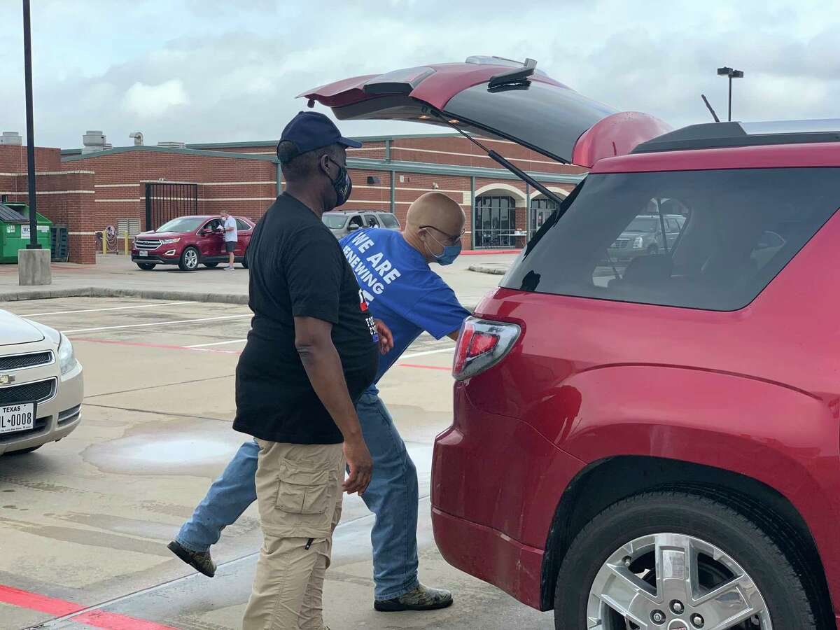 Fort Bend County Judge KP George was on hand Saturday, May 22, 2021, in Rosharon to help distribution needed food and supplies for residents of Arcola and Fresno. The county partnered with Houston Food Bank and Second Mile Mission Center to make the event possible.