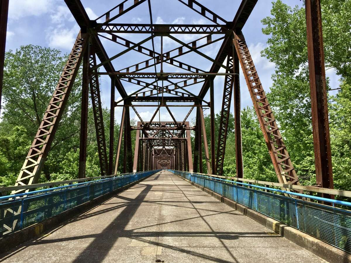 The structure of the Old Chain of Rocks Bridge is unique and provides tremendous opportunities for photographers. The photogenic bridge is open to pedestrians and can be found on Chateau Island. There's a 22-degree bend midway through the bridge connecting to the north edge of St. Louis and the bridge was added to the National Register of Historic Places in 2006. The bridge was originally erected to be a part of Route 66 and now it carries bicycles and walkers. (File photo)