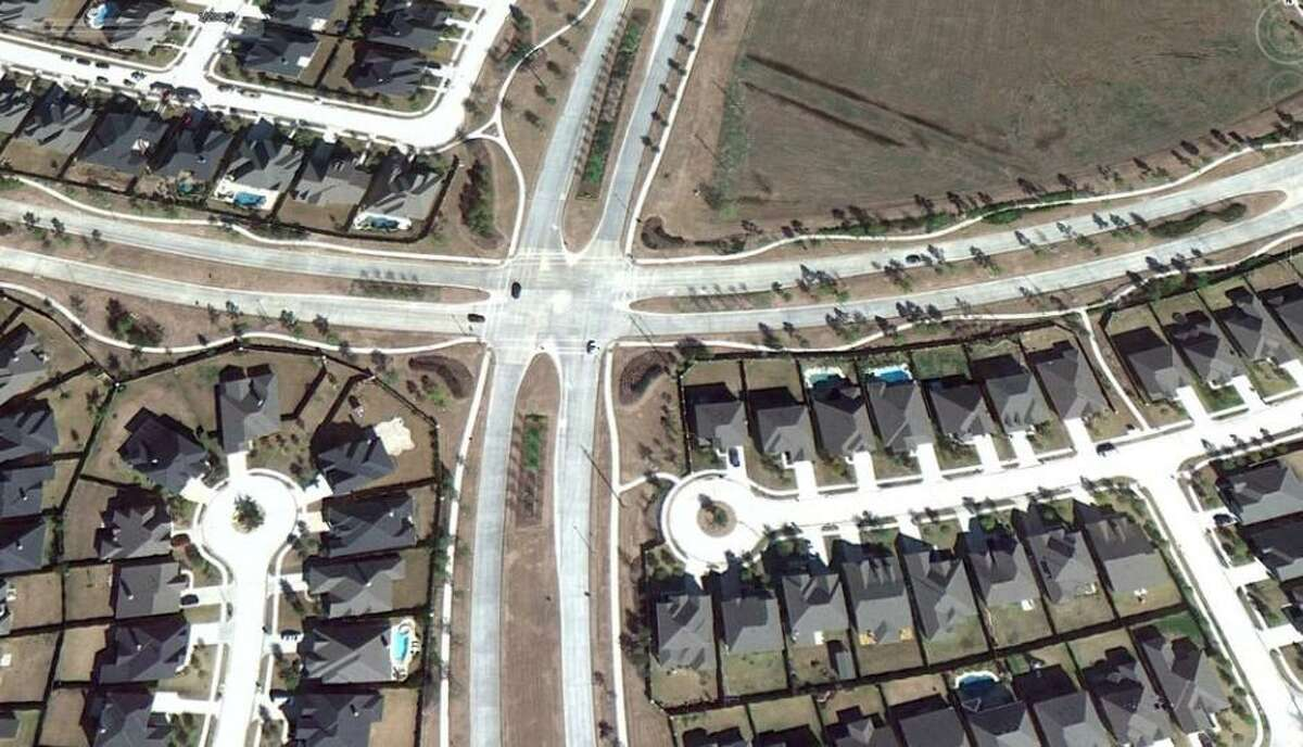 This aerial photograph shows Spring Green Boulevard as it is currently.