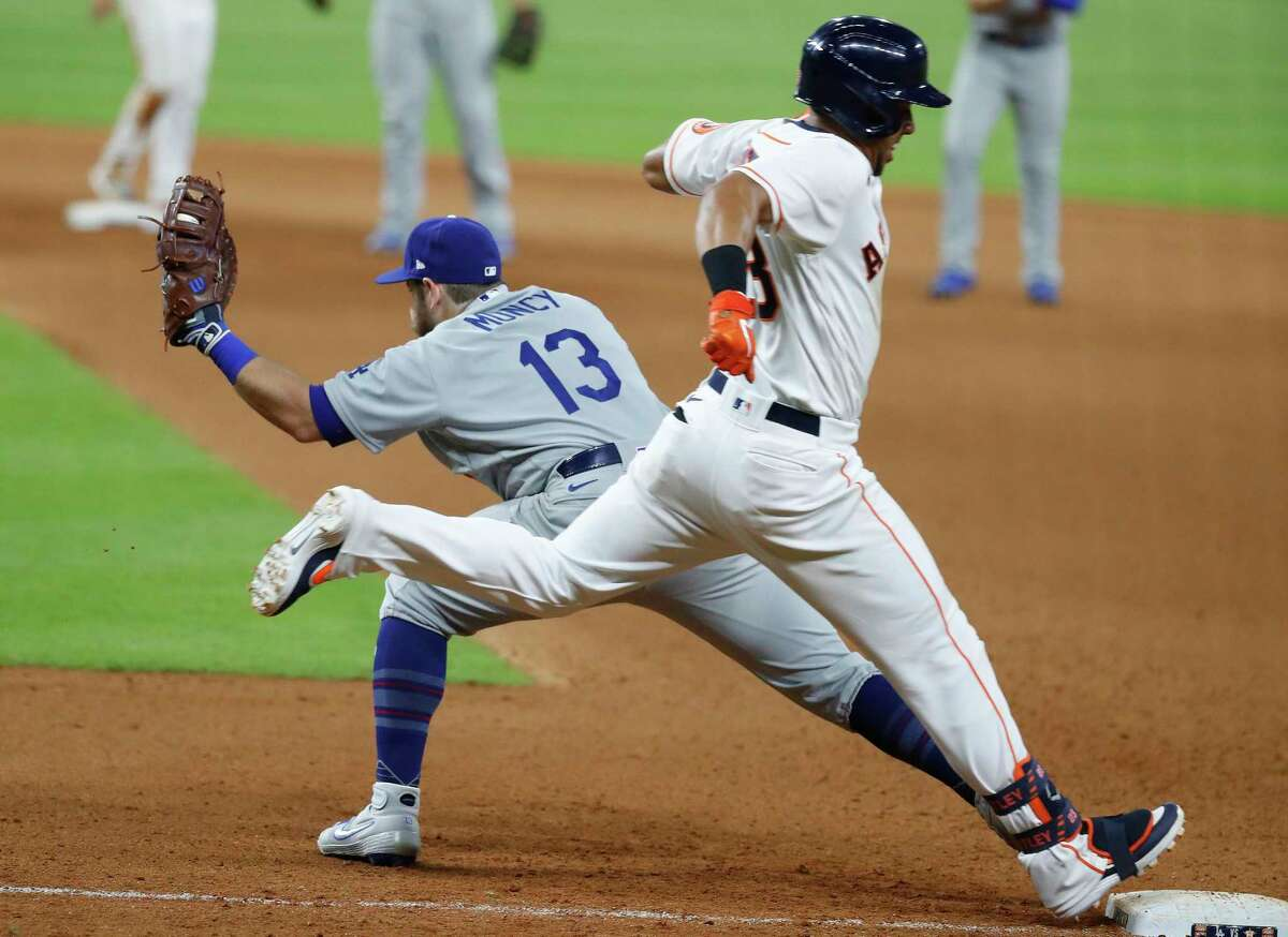 Getting a step ahead of the Dodgers and Max Muncy (13) will be no easy feat for the Astros and Michael Brantley this week.