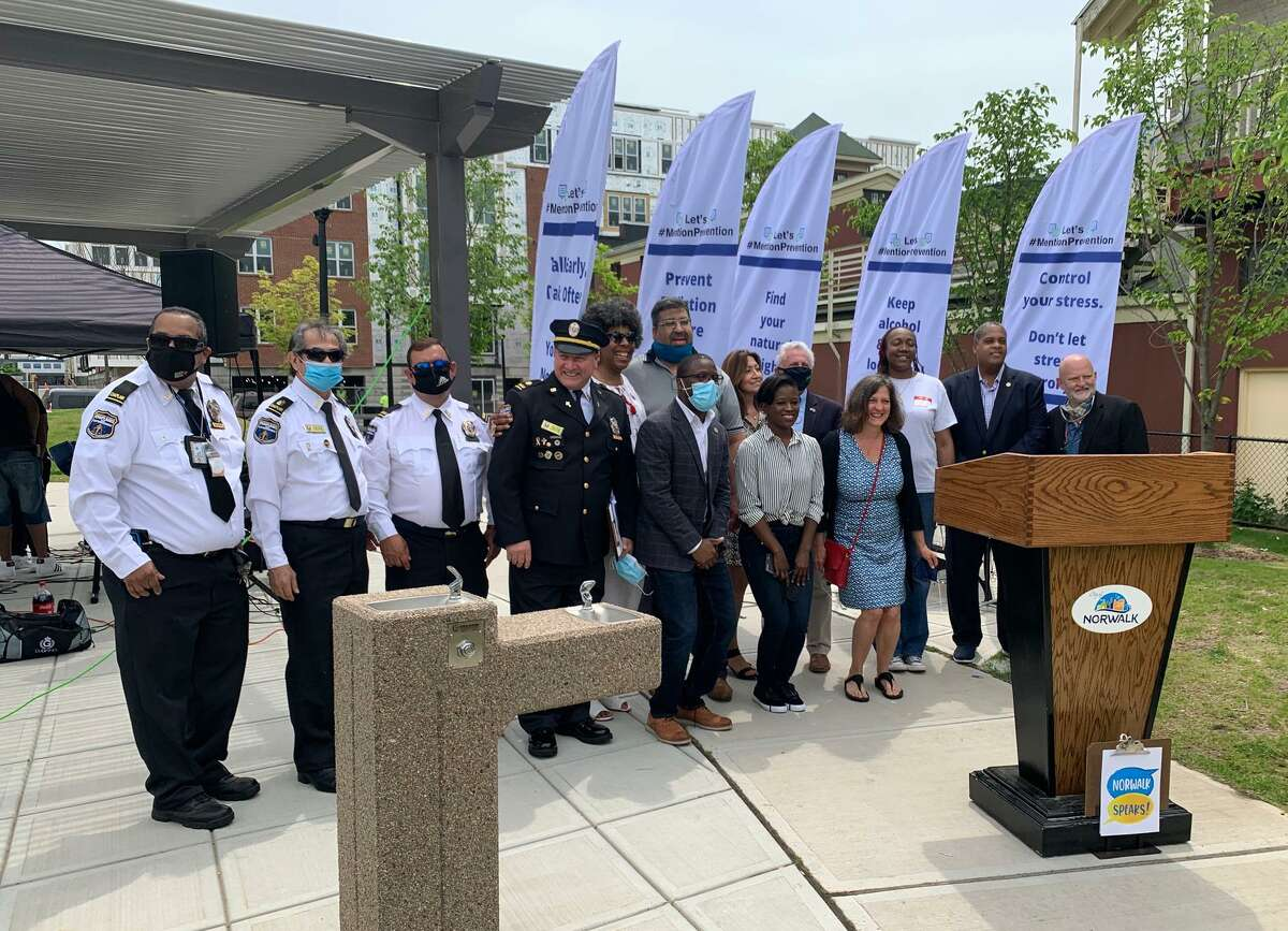 Norwalk leaders announce the formal launch of the Norwalk Speaks! campaign Saturday at Ryan Park. The initiative will work to increase inclusivity in the city.