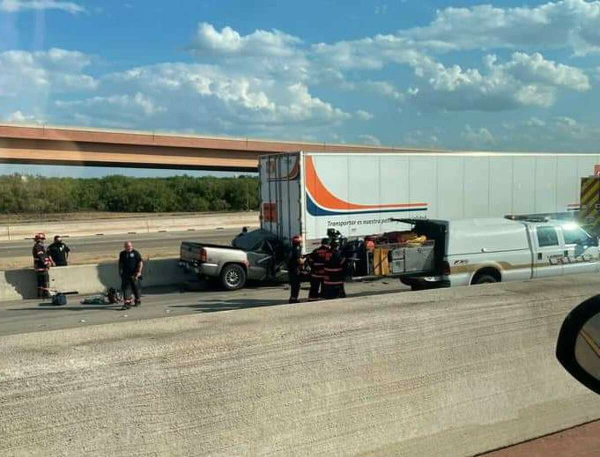 A crash near the intersection of Bob Bullock Loop and Interstate 35 left a man in critical condition.
