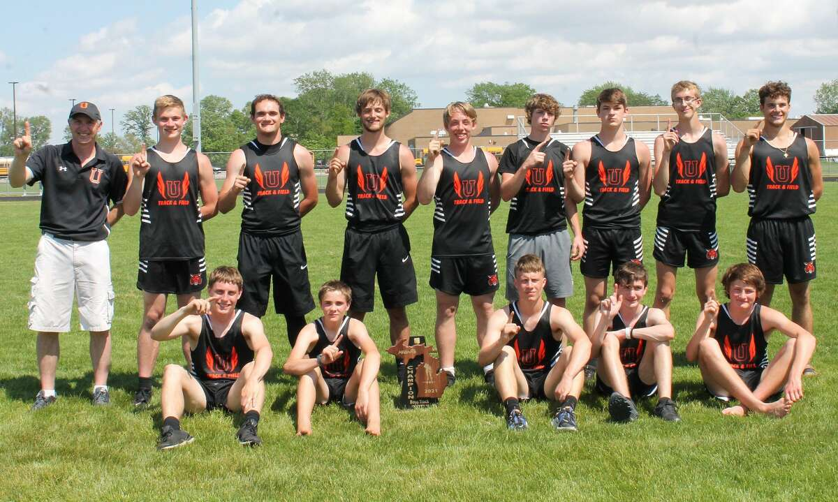 The 2021 Ubly boys track team captured a regional championship on Saturday at Unionville-Sebewaing Area High School.