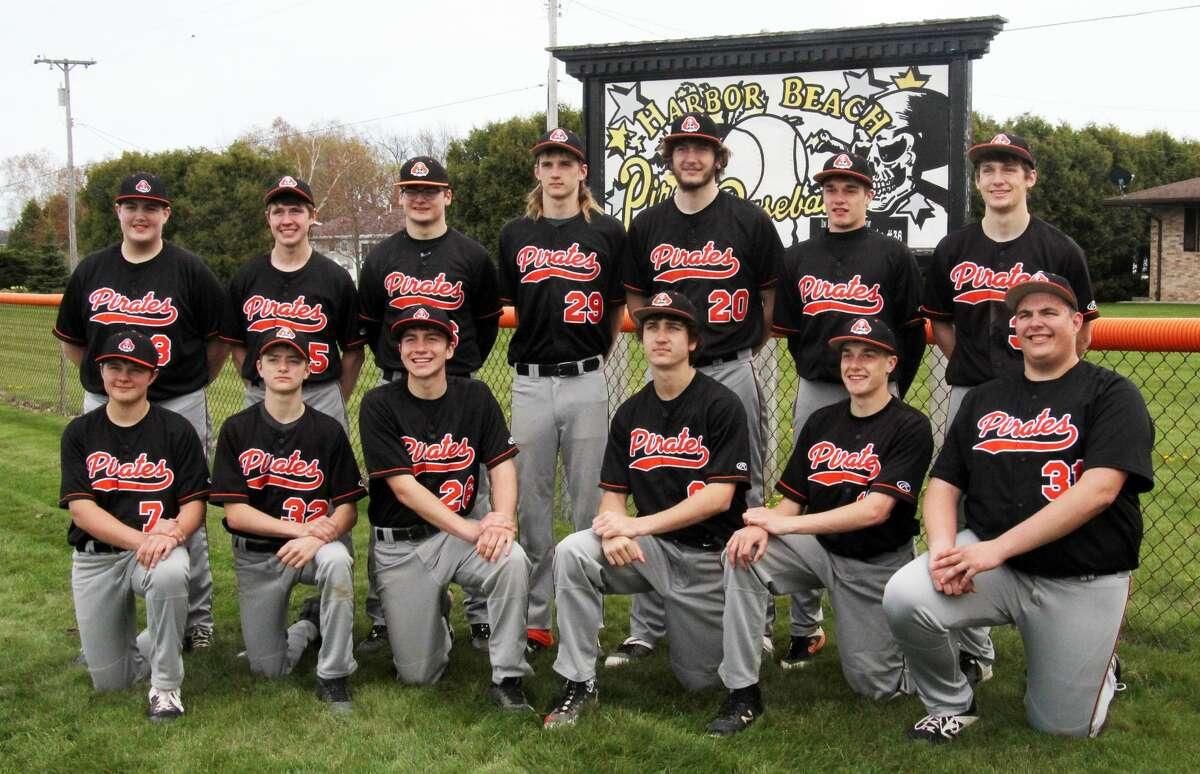 The 2021 Harbor Beach baseball team.