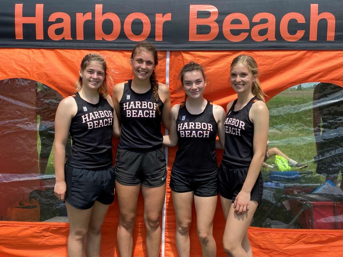 The Harbor Beach girls 800-meter relay team qualified for the state meet over the weekend. The 4X200m team consisting of Teagan Messing, Paige Anderson, Makara Cramer, Kayla Klee on June 5.
