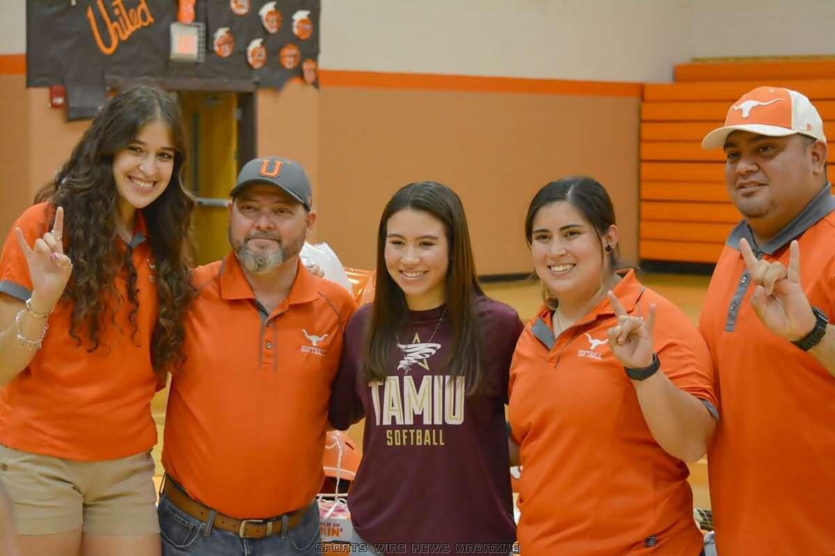 United's Eva Garcia will continue her softball career at Texas A&M International University.