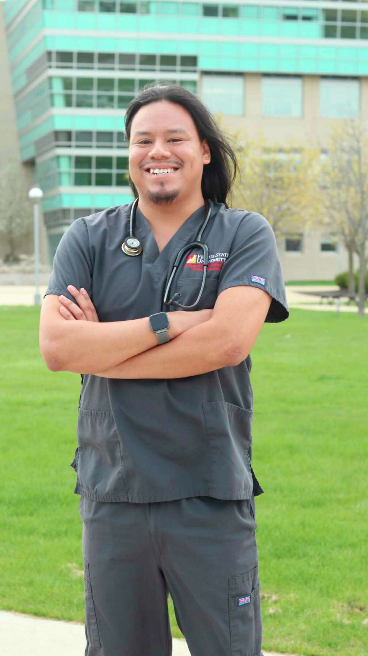Dallas Gibson, a Gladwin native and graduate of the bachelor of science in nursing program in Ferris State University's College of Health Professions, will begin his career at the Progressive Care-Critical Care wards of Spectrum Health-Butterworth Hospital in Grand Rapids. (Photo provided)
