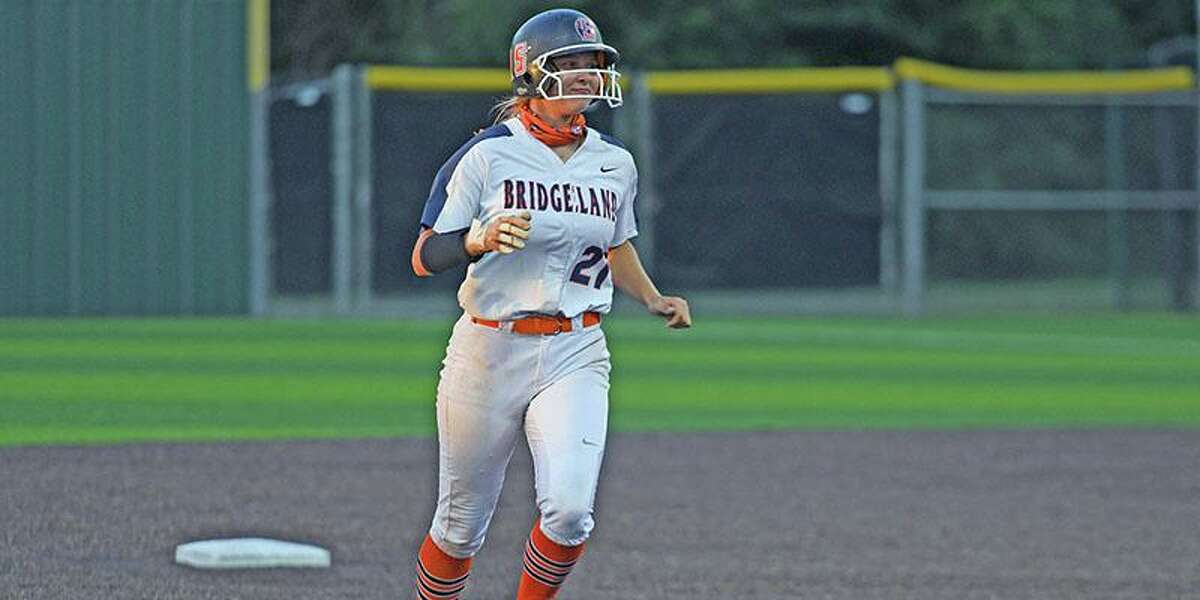 Bridgeland senior Brodie Quinlan and the Lady Bears defeated Conroe Grand Oaks, 8-6, to advance to the regional semifinal round of the Class 6A playoffs.