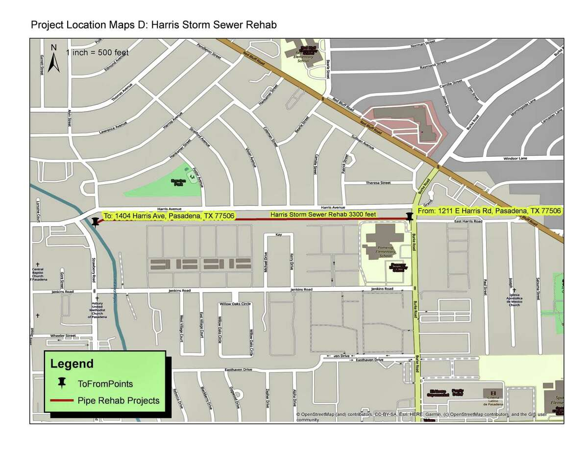Storm sewer pipe will be rehabilitated through the planned work.