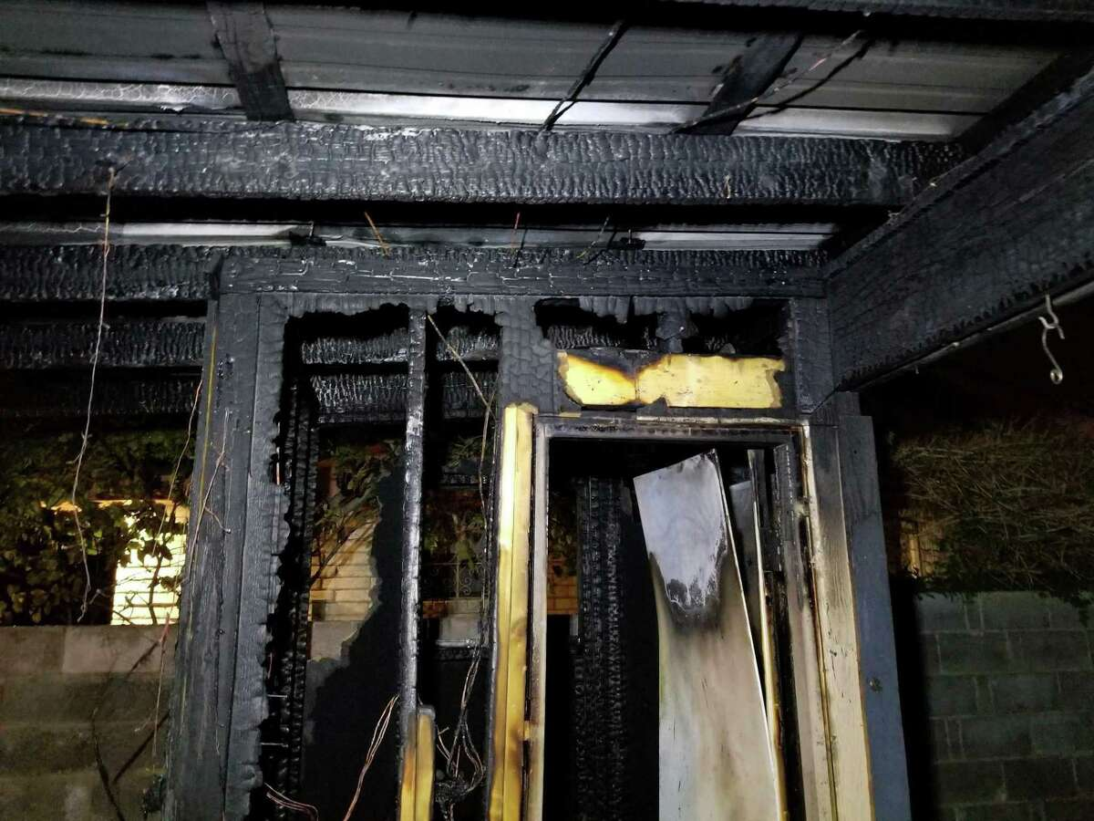 A backyard palapa caught on fire on Saturday evening in the 6100 block of Springfield Avenue. Laredo Fire Department crews said the fire was ruled accidental.