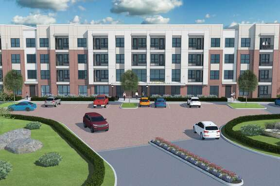 A rendering of the apartment complex Koontz Corp. is proposing to build.