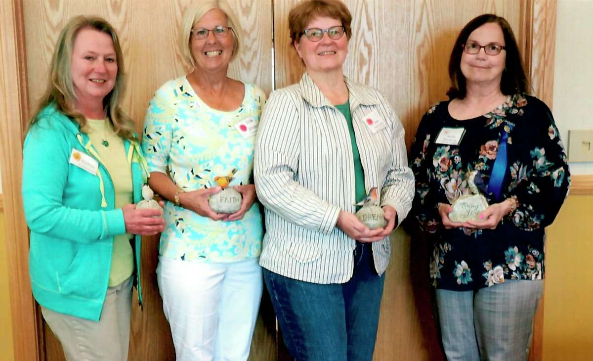 The Spirit of the Woods Garden Club, Inc. installed new board members for 2021. Pictured (from left) aretreasurerKathy Johnson,second vice presidentVickie Johnson;first vice presidentBeth Markowski andpresident Kris Greve. Not pictured are Barb Hadleyand Betty Oswell. (Courtesy photo)