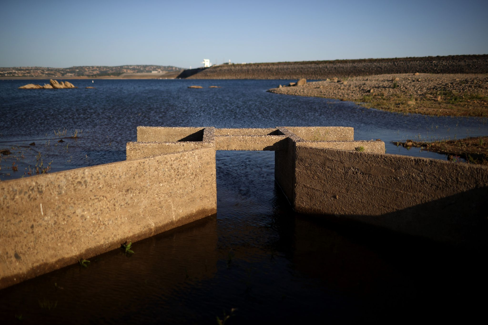As drought shrinks California lake, a mystery from '60s emerges