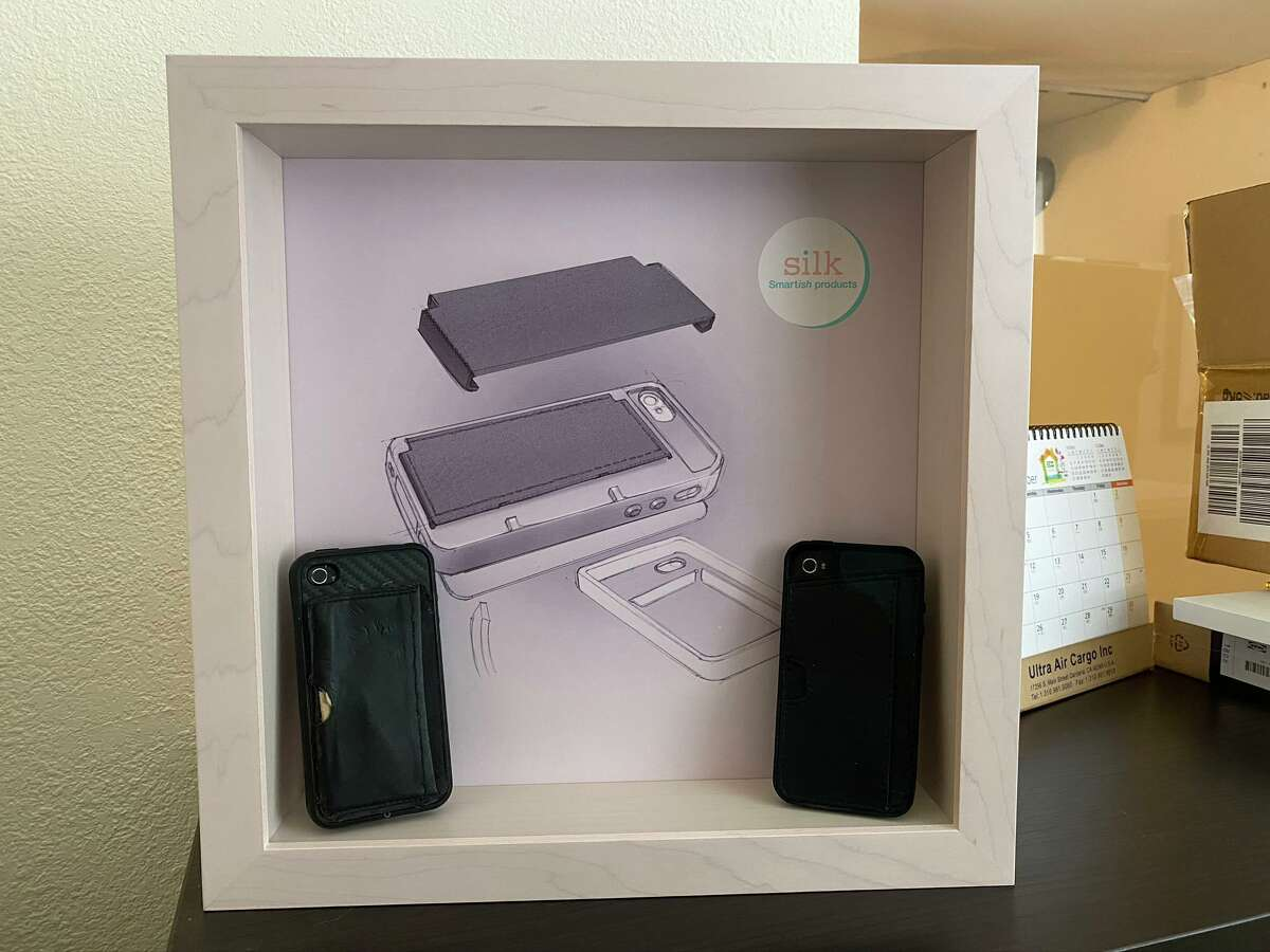 The prototype for Smartish's first smartphone case, the Wallet Slayer, is shown in an office at Smartish in Austin, Texas, on Jan. 21, 2020.