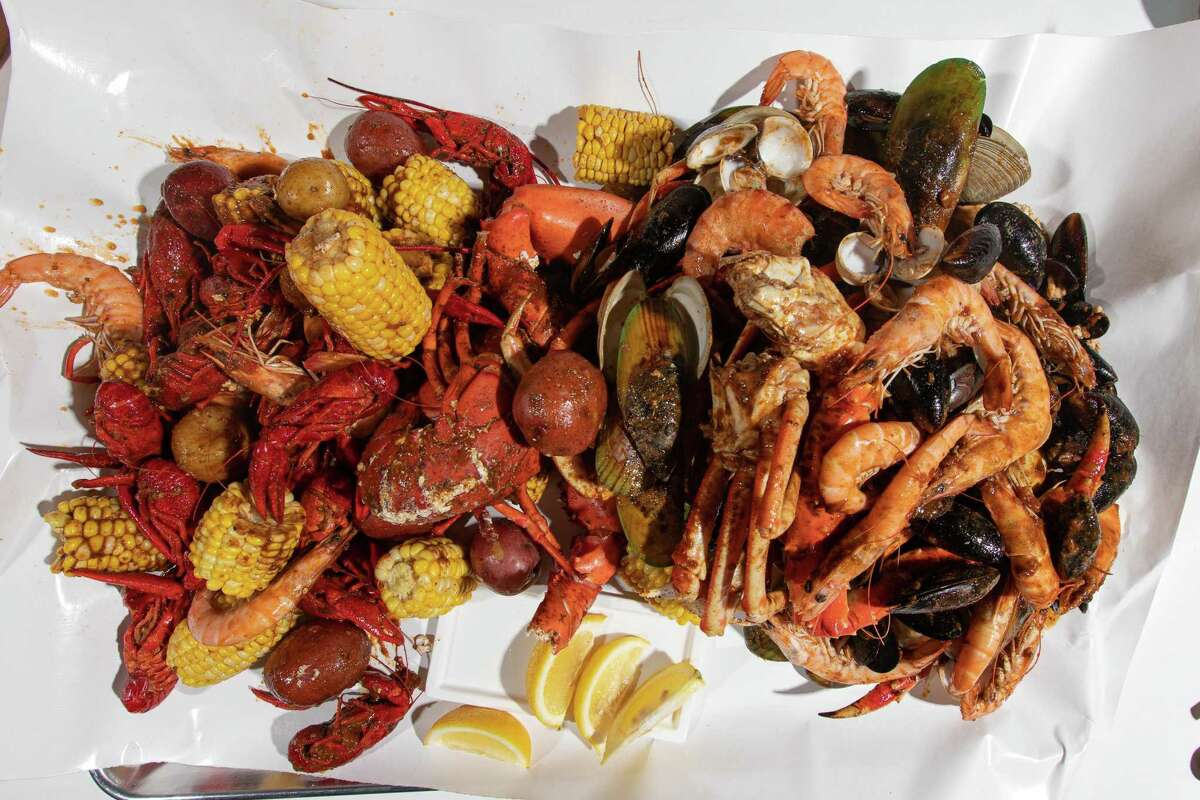 A Cajun seafood boil from Red Hook Seafood Boil in South Norwalk, opening June 10.